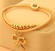 Fashion Lady Bowknot Plastic Charm Bracelet(1pc)