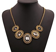 Women's Fashion Cubic Zirconia Rhinestone Set Auger Jewelry Alloy Necklace
