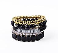 5 Reihen Acrylmaschenkette Armband