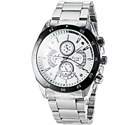 Men's Round Dial Alloy Band Quartz Wrist Watch (Assorted Colors)