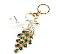 High Quality Creative Crystal Peacock Metal Keychain(Color Random)