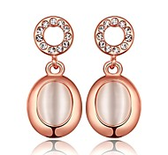 classiques d'opale baisse or rose rose boucles d'oreilles plaqué or (or rose) (1 paire)