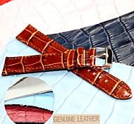 18 milímetros boa banda de couro genuíno relógio unissex (cores sortidas)