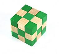 quadrado de madeira brinquedos educativos desbloqueio verde