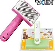 nylon de haute qualité et de massage en plastique et un peigne de nettoyage pour les chiens de compagnie (tailles assorties et couleur aléatoire)