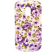 lila Blumen-Muster weiche Tasche für Samsung Galaxy Trend Duos s7562
