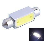 gc® 36mm 3w 150lm 6000k led blanche pour lampe de lumière voiture de lecture (dc 12v)