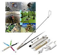 Unique Design 70CM Stainless Steel Handheld Extendable Monopod with Remote for iPhone/Mobile Phone(Assorted colors)