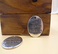 moda lettering accessorio circolare fascino della lega d'argento (3pcs)