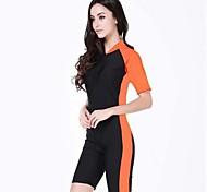 Women Multi-color Nylon Sun Protection Sport Dive Wetsuit Swimwear