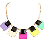 Women's  New Candy Color Geometric Necklace