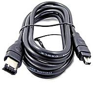 1.5m 4.92ft 6 pines FireWire IEEE1394 4pin macho a cable de transferencia de datos de alta velocidad FireWire macho