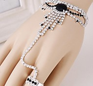 Diamond Fashion Bracelet Ring Set  (Random Color)