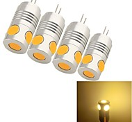 youoklight®  4PCS G4 5W 5*COB 200LM Warm/Cool White Light Corn Bulbs 4PCS (AC/DC12V)