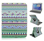 Green Ling Shape Rotation Pattern PU Leather Full Body Case with Card Slot for Samsung Galaxy Tab 4 10.1 T530