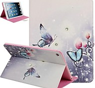 Butterflies PU Full Body Cases with Stand for iPad Air 2