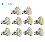 10 pcs GU10 3W 60 SMD 3528 240 LM Warm White / Cool White LED Spotlight AC 220-240 V
