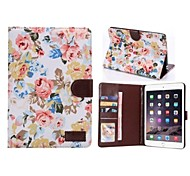 High Quality Flower Gyrosigma Pattern PU Protect Holster with Stand for iPad mini 1/2/3