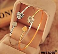 Mlle motif d'amour de coeur rose®fashion de zircon bracelet openning