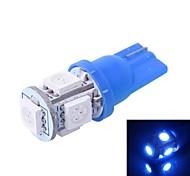GC® T10 1W 100LM 5×5050 SMD LED Blue Light for Car Dashboard Instrument / Door / Trunk Light Lamp (DC 12V)