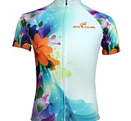 JESOCYCLING Bike/Cycling Jersey / Tops Women's Short Sleeve Breathable / Quick Dry / Sweat-wicking Polyester BlueS / M / L / XL / XXL /
