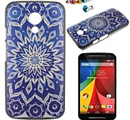 Flowers Pattern PC Back Cover Case With Dustproof plug for Motorola G2