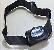 LS126 Camping Hiking Waterproof Gasket 5 LED Headlamp Lamp Torch Black