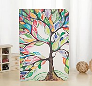 Colorful Tree Pattern PU Leather Case with Stand and Card Slot for iPad Air