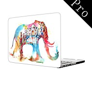 "Water Colorful Elephant Design Full-Body Protective Plastic Case for MacBook Pro 13""/15"" (Non-Retina)"
