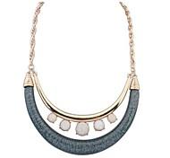 Women's New Double Crescent Necklace