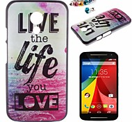 Life Pattern PC Back Cover Case With Dustproof plug for Motorola G2