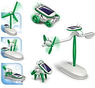 DIY 6 en 1 pour l'éducation des enfants solaires Kits Robots