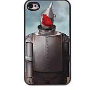 Robot Pattern Aluminum Hard Case for iPhone 4/4S