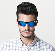 Sunglasses Men's Classic / Lightweight / Sports / Fashion / Polarized Wrap Black / Blue Sunglasses Half-Rim