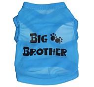 """Lovely """"BIG BROTHWR"""" Pattern Terylene Vest for Dogs (Assorted Sizes)"""