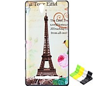 Tower Pattern PC Hard Case and Phone Holder for Sony C3