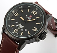 Men's Fashion Casual Leather Band Quartz Round Case Sports Military Business Watches