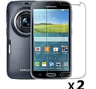 lcd Ultra HD claro protetor de tela guarda cobertura filme com pano de limpeza para samsung galaxy k zoom s5 zoom (2pcs)