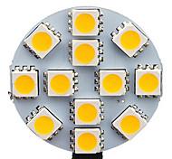 1.5W G4 Spot LED 12 SMD 5050 70 lm Blanc Chaud / Blanc Froid AC 12 V 20 pièces