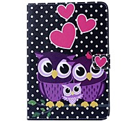 An Owl Pattern PU Leather Full Body Case with Stand  for iPad mini 1/2/3
