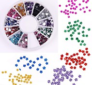 600pcs 12 couleur en forme de prune diamant nail art décoration