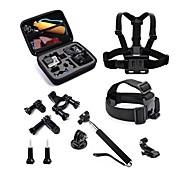 5 en 1 kits d'accessoires avec le sac m de taille pour toutes caméra GoPro