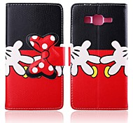 Naughty Hands Pattern PU Leather Full Body Cases with Stand for Samsung Galaxy Grand Prime G530H