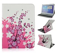 The Plum Blossom Rotation Pattern PU Leather Full Body Case with Card Slot for Samsung Galaxy Tab 4 10.1 T530