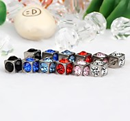 Earring Stud Earrings Jewelry Daily / Casual Stainless Steel / Rhinestone Light Blue / Black / White / Red / Blue / Pink