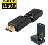HDMI V 1.4 Male to Female 360 Angled Rotating Adapter