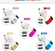 Universal Car Vehicle Power Dual 2 Port USB 2.1A Car Charger Adapter for iPhone/iPad and Others(Assorted Color)
