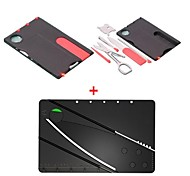 2-in-1 Multifunktions-Mini-Klappkreditkartengröße Tasche Campingwerkzeug