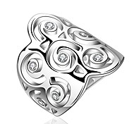 Silver Plated Zircon Ring Statement Rings Wedding/Party/Daily/Casual/Sports 1pc