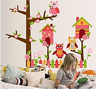 The Owl Home Cartoon Wall Stickers